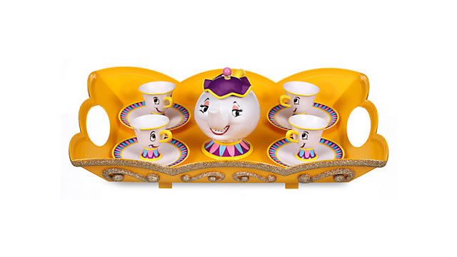 Beauty and the Beast Tea Set (age 3+) £15.74 (save 25%) with free delivery available at The Disney Store