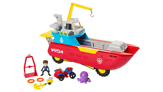 Paw Patrol Sea Patroller Vehicle (age 3+): £62.99 with free delivery available at John Lewis