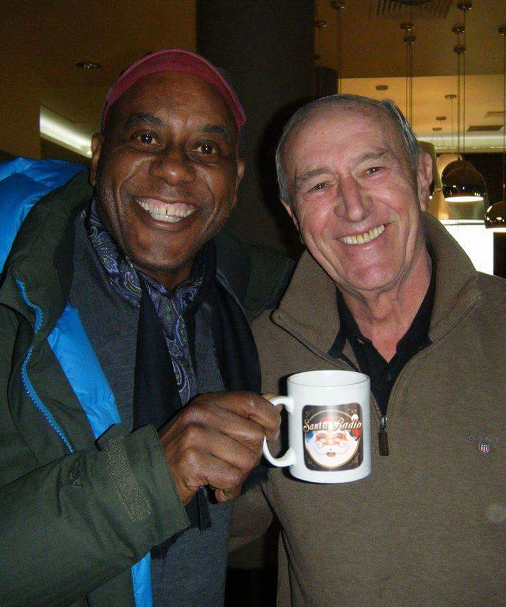 Ainsley Harriott & Len Goodman - Chef and Professional Dancer - Santa Radio Mugshot
