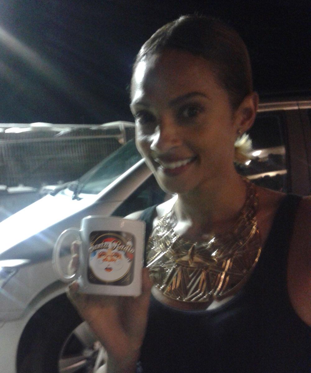 Alesha Dixon - Singer & Television Presenter - Santa Radio Mugshot