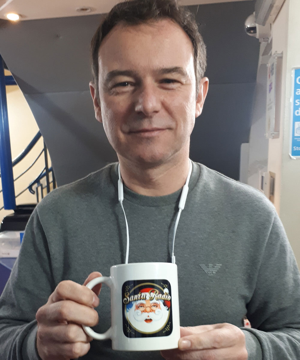 Andrew Lancel - Coronation Street Actor - Santa Radio Mugshot