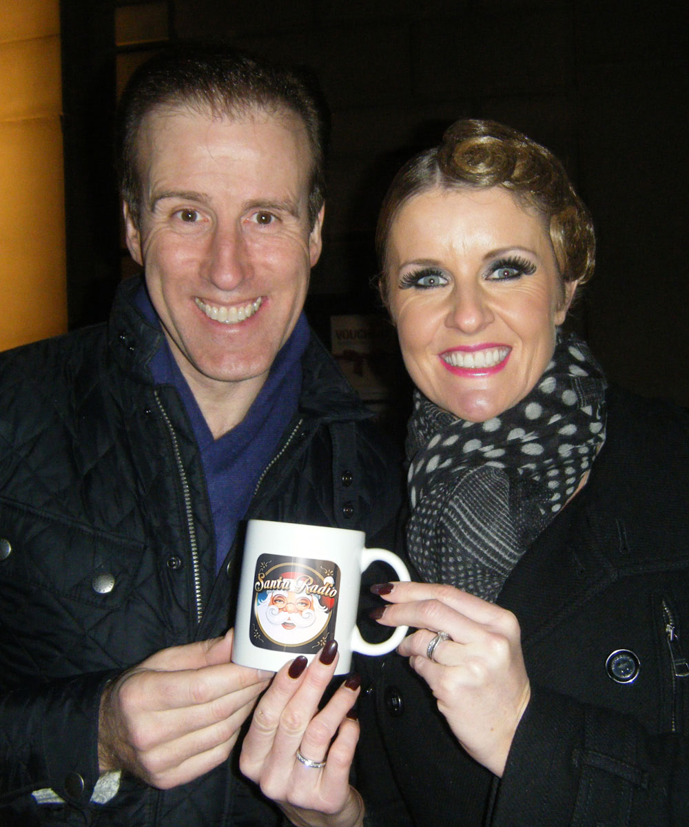 Anton & Erin - Pro Ballroom Dance Couple - Santa Radio Mugshot