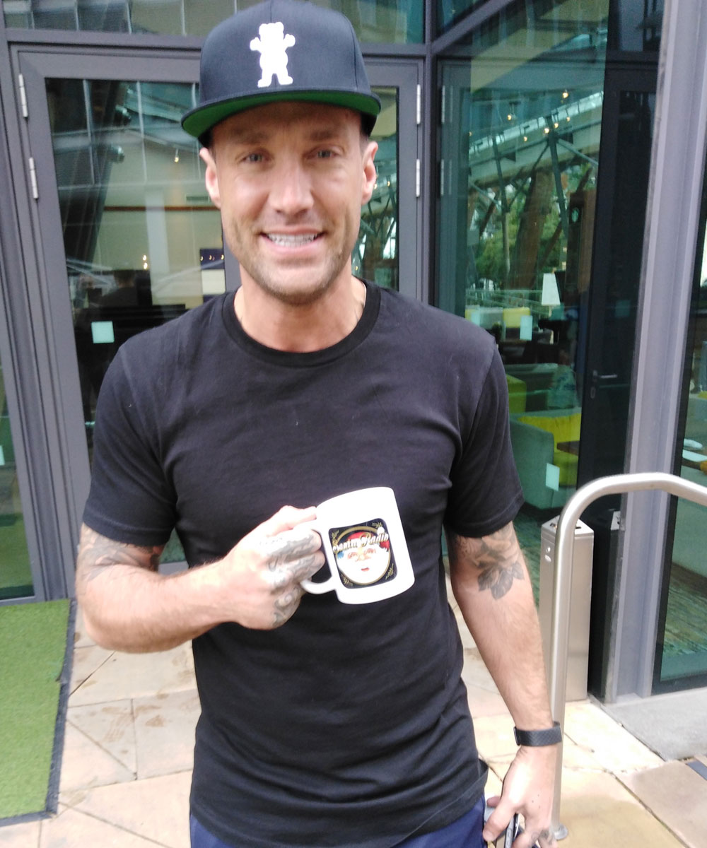 Calum Best TV Personality - Santa Radio Celebrity Mugshots