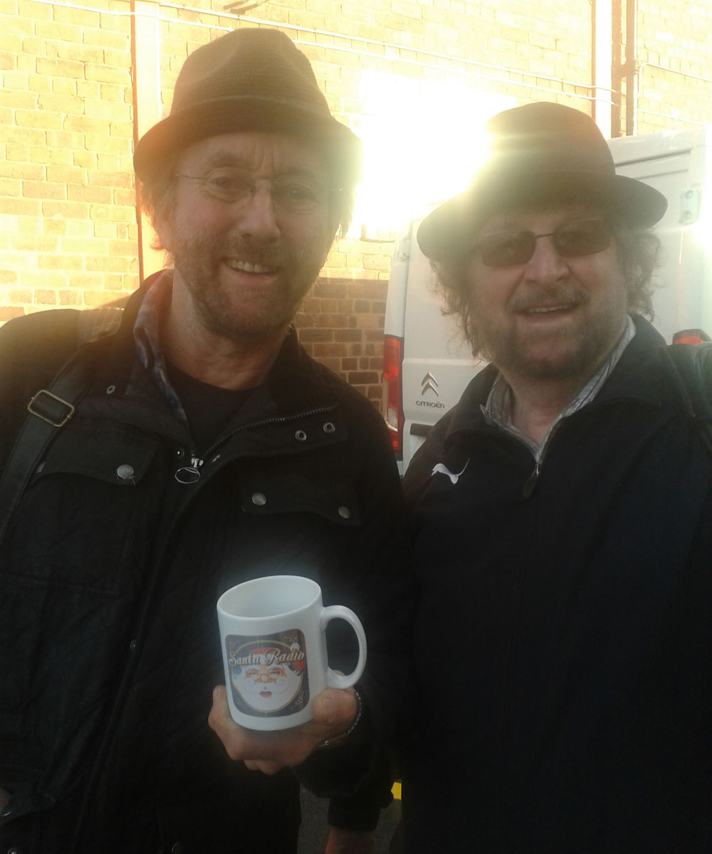 Chas & Dave Pop duo - Santa Radio Celebrity Mugshots