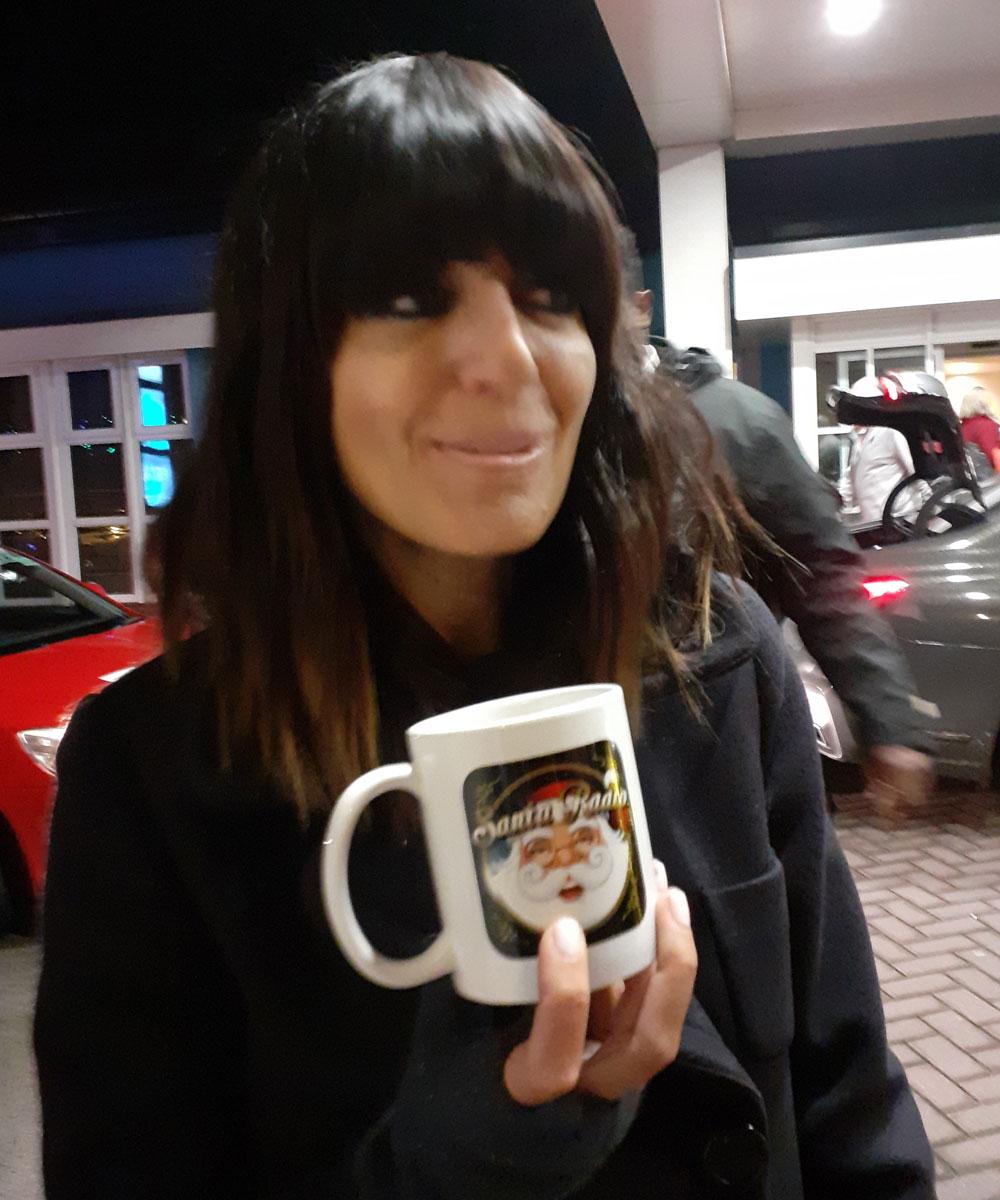 Claudia Winkleman - Television presenter - Santa Radio Mugshot