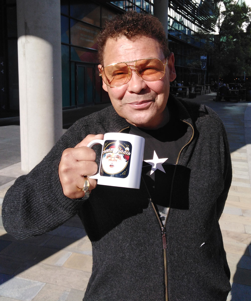 Craig Charles - British actor - Santa Radio Mugshot
