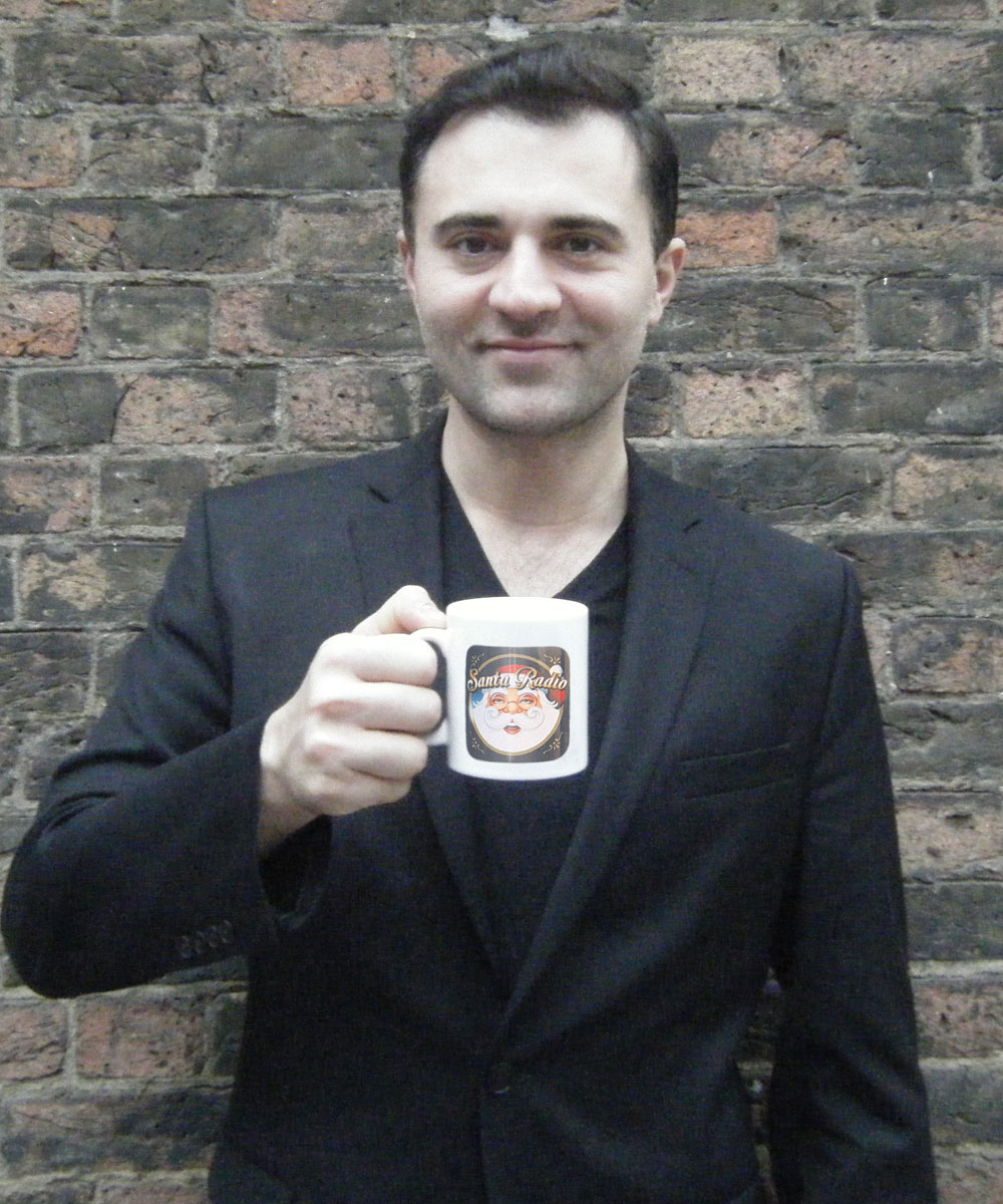 Darius Campbell - Scottish singer - Santa Radio Mugshot