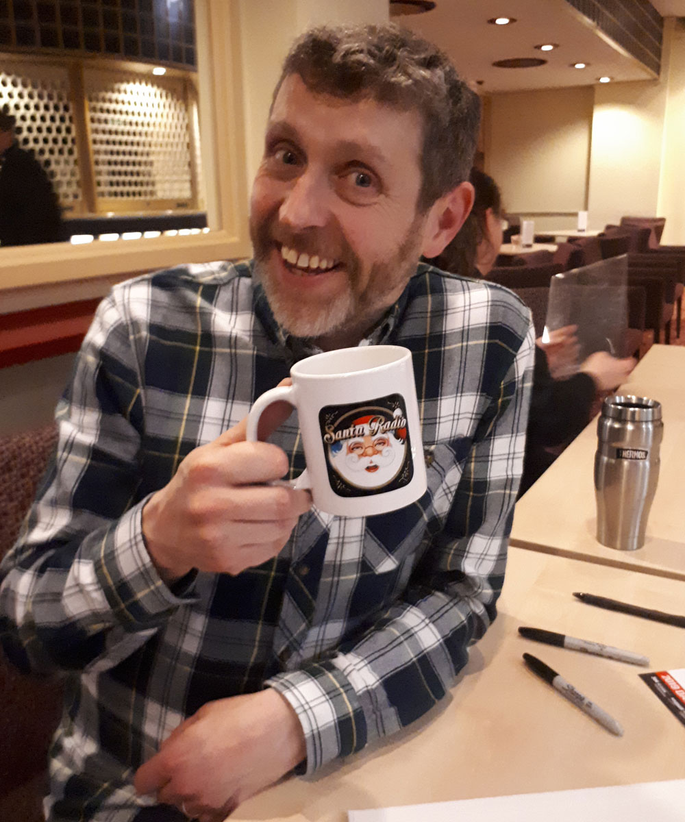 Dave Gorman - Comedian - Santa Radio Mugshot