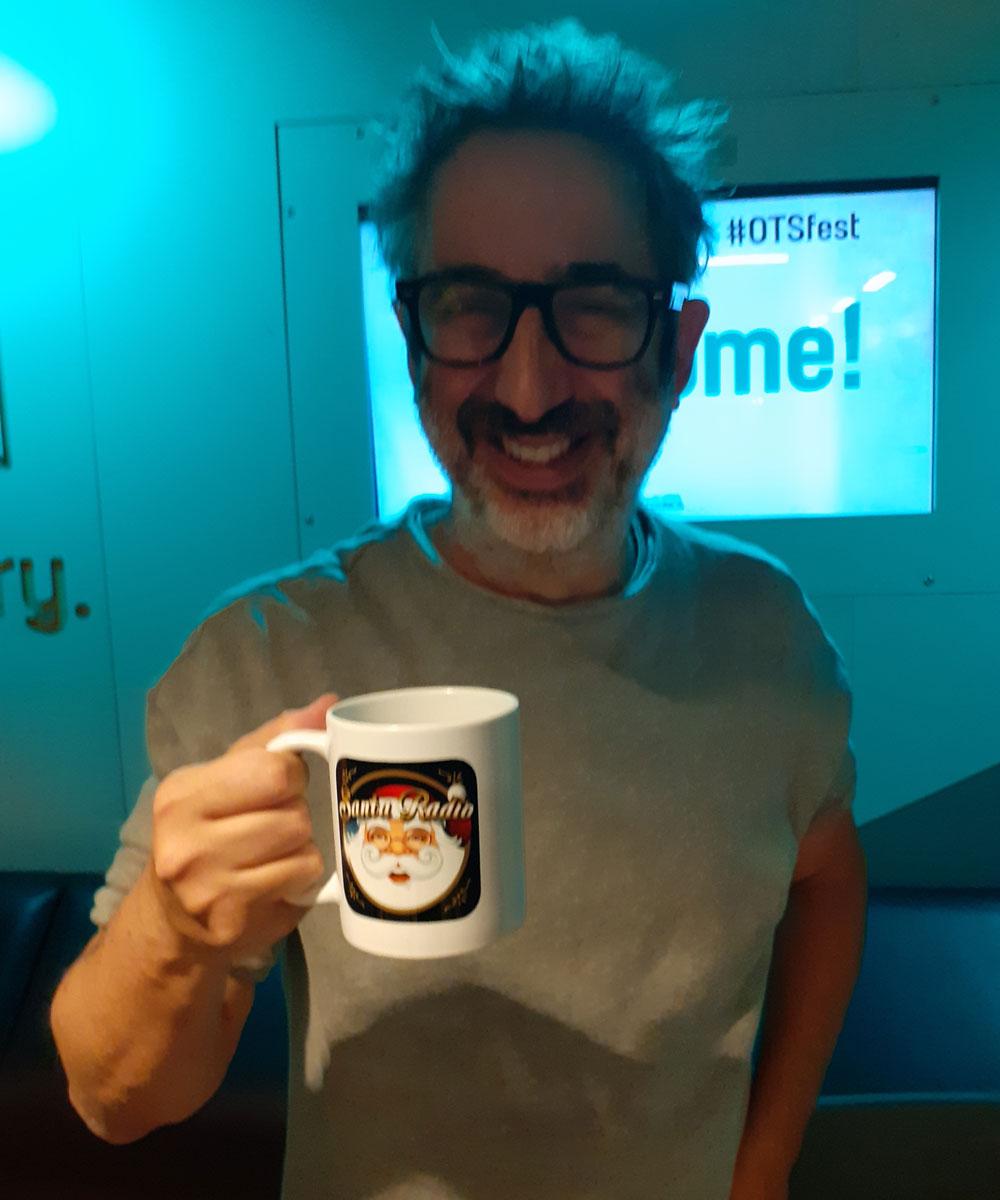 David Baddiel - Comedian - Santa Radio Mugshot