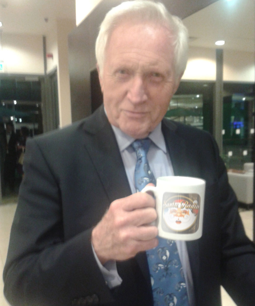 David Dimbleby British journalist - Santa Radio Celebrity Mugshots