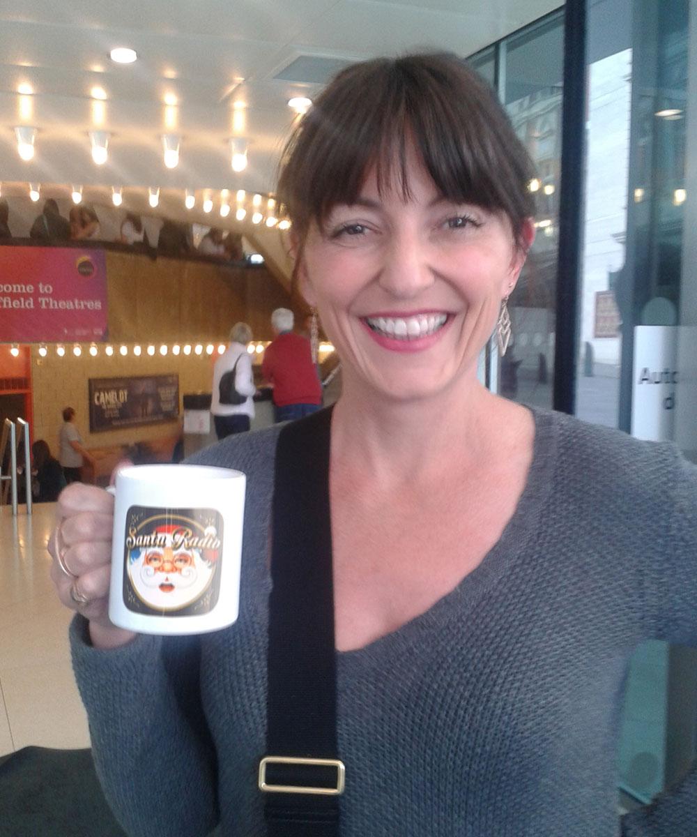 Davina McCall - Television Presenter - Santa Radio Mugshot
