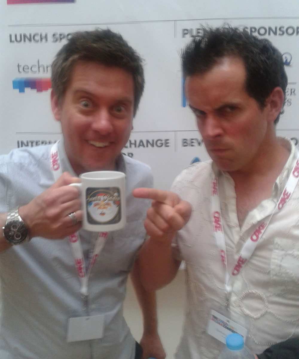 Dick and Dom - TV Legends - Santa Radio Mugshot