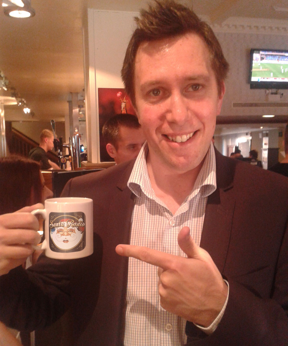 Dominic Dale Snooker player - Santa Radio Celebrity Mugshots