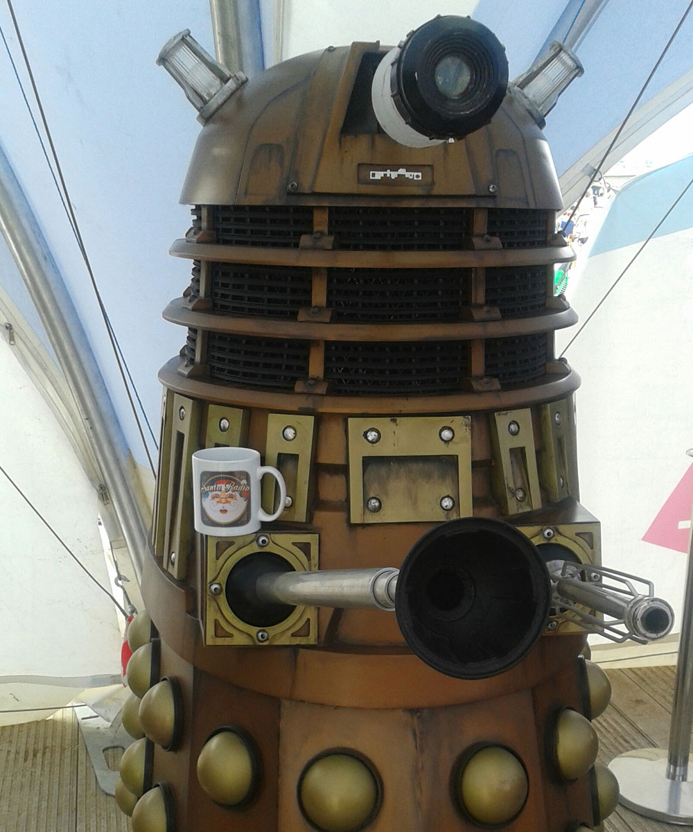Dalek - Mechanical Actor - Santa Radio Mugshot