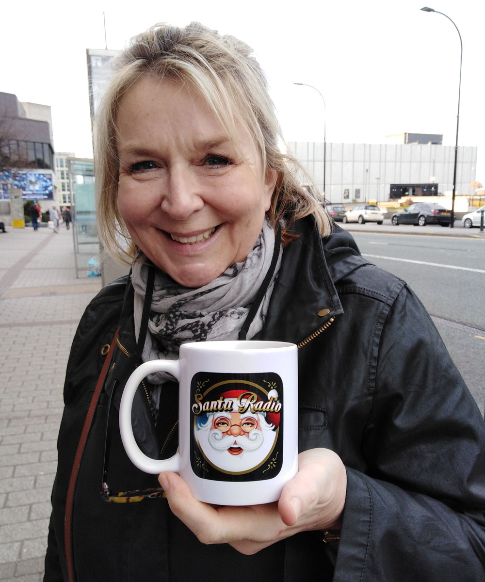 Fern Britton - Television presenter - Santa Radio Mugshot