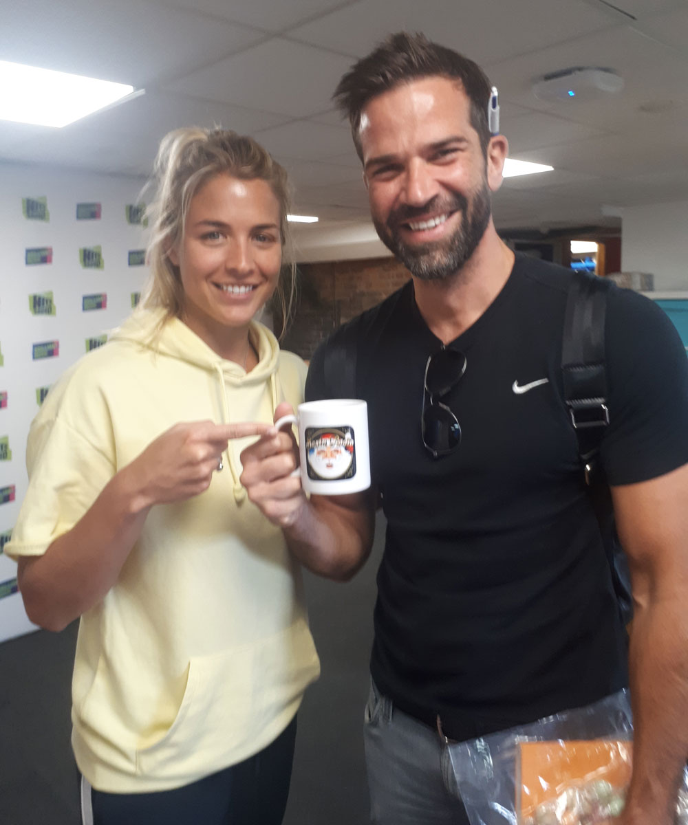 Gemma Atkinson & Gethin Jones - Hits Radio Presenters - Santa Radio Mugshot