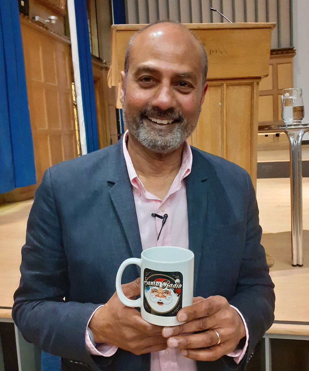 George Alagiah British journalist - Santa Radio Celebrity Mugshots