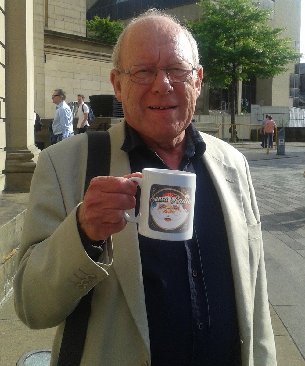 Graeme Garden - British comedian - Santa Radio Mugshot