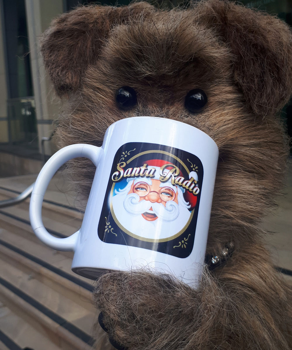 Hacker the Dog - CBBC TV Dog - Santa Radio Mugshot