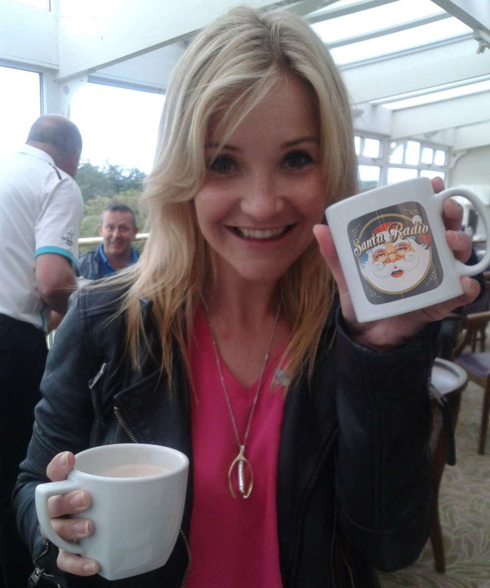 Helen Skelton Television presenter - Santa Radio Celebrity Mugshots