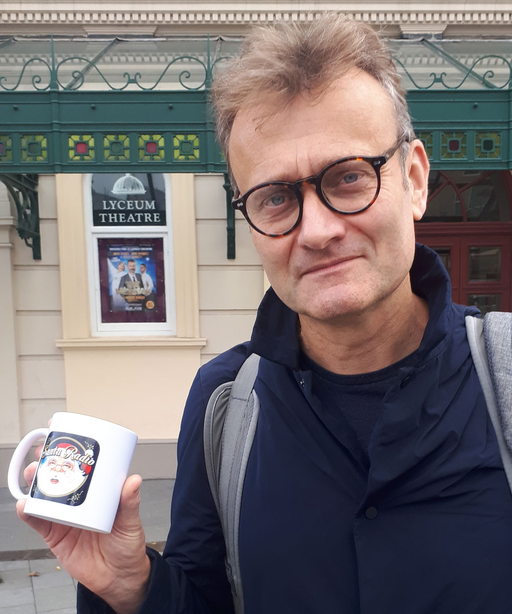 Hugh Dennis Actor & Comedian - Santa Radio Celebrity Mugshots