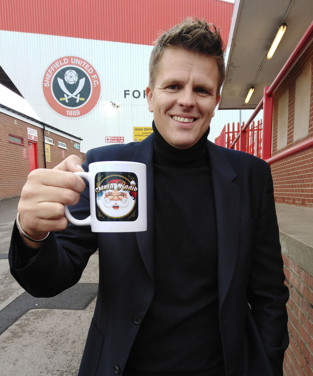 Jake Humphrey - English television presenter - Santa Radio Mugshot