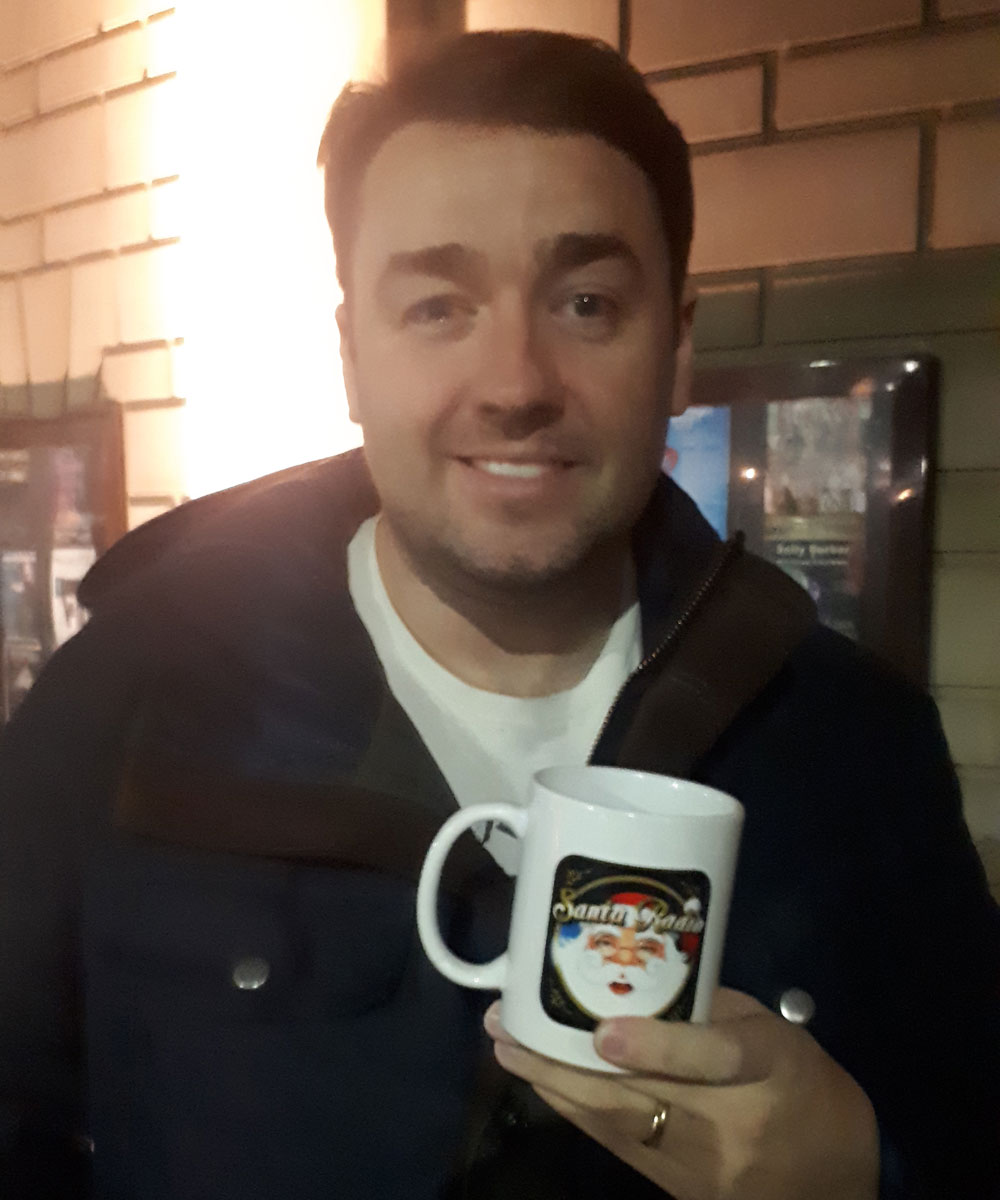 Jason Manford Comedian & Radio Presenter - Santa Radio Celebrity Mugshots