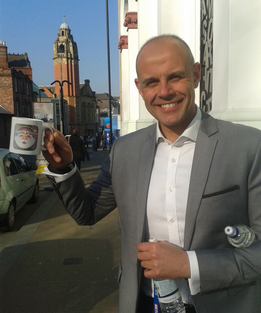 Jason Mohammad Radio presenter - Santa Radio Celebrity Mugshots