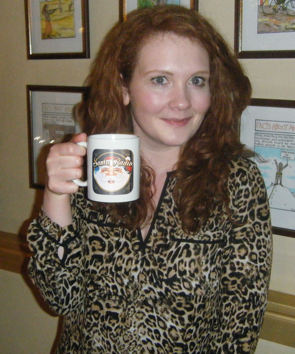 Jennie McAlpine British television actress - Santa Radio Celebrity Mugshots