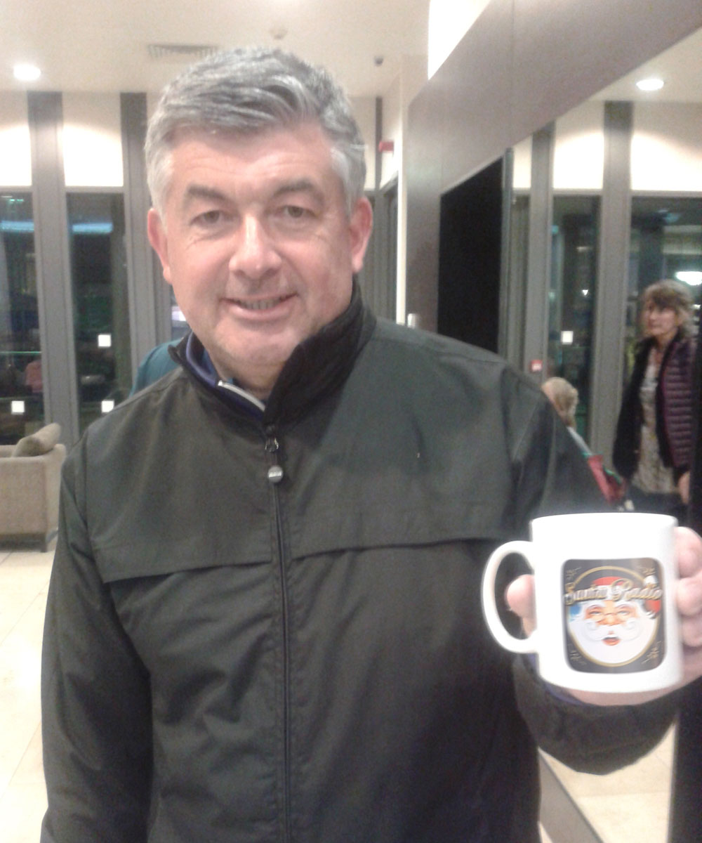 John Parrott - English snooker player - Santa Radio Mugshot