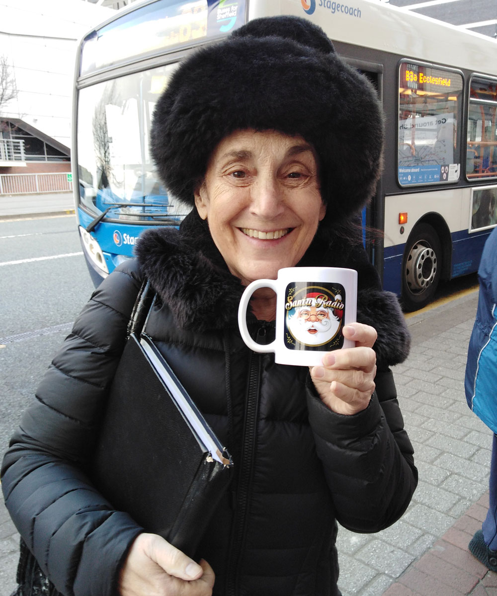 Lesley Joseph Actress - Santa Radio Celebrity Mugshots