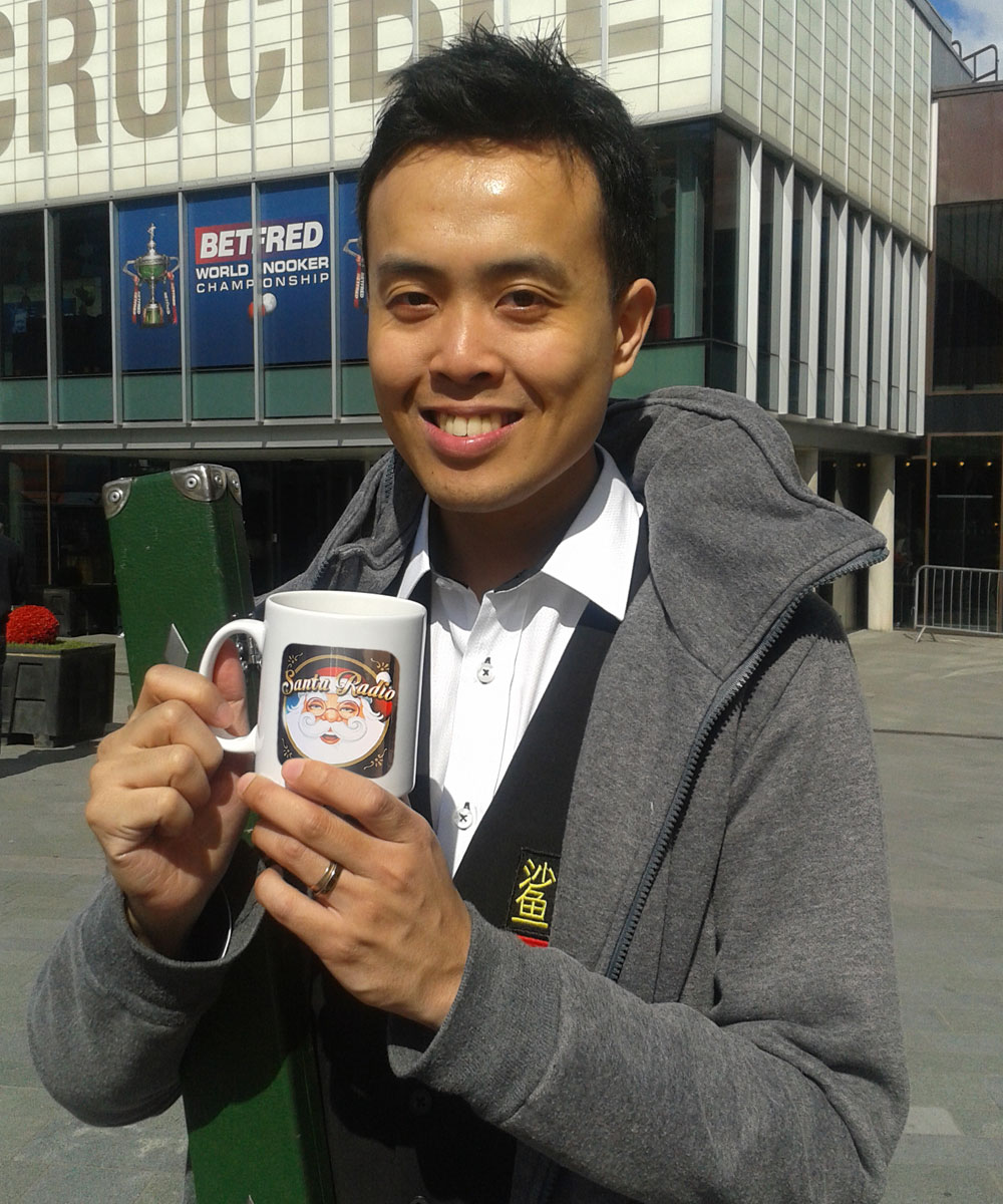 Marco Fu Hong Kong Pro Snooker Player - Santa Radio Celebrity Mugshots