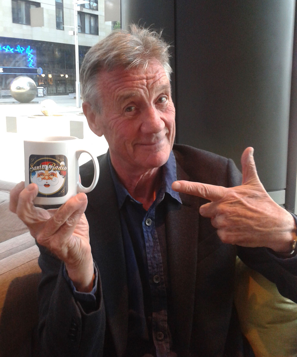 Michael Palin TV Presenter & Entertainer - Santa Radio Celebrity Mugshots