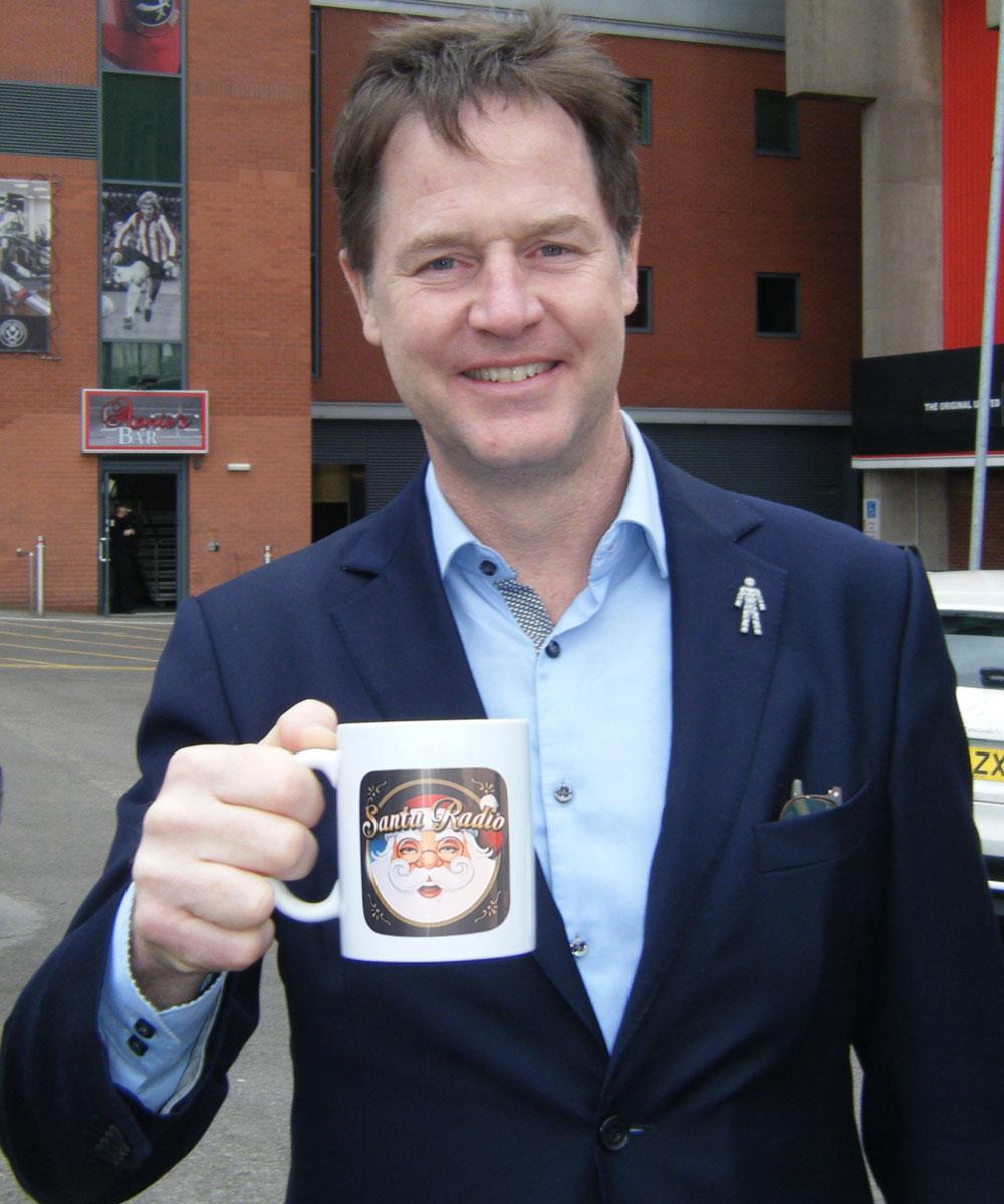 Nick Clegg - Former Deputy Prime Minister - Santa Radio Mugshot