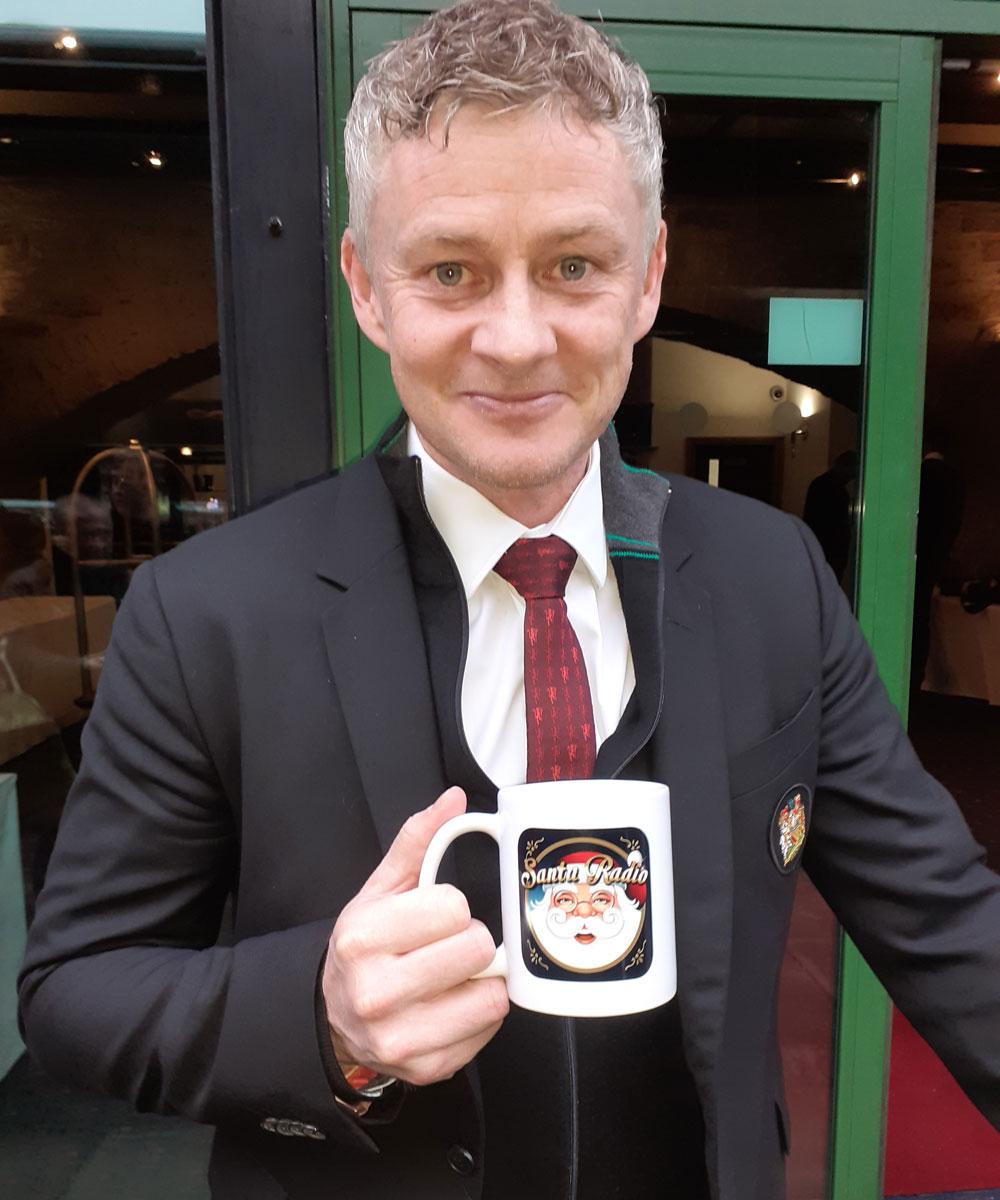Ole Gunnar Solskjær - Football Manager - Santa Radio Mugshot