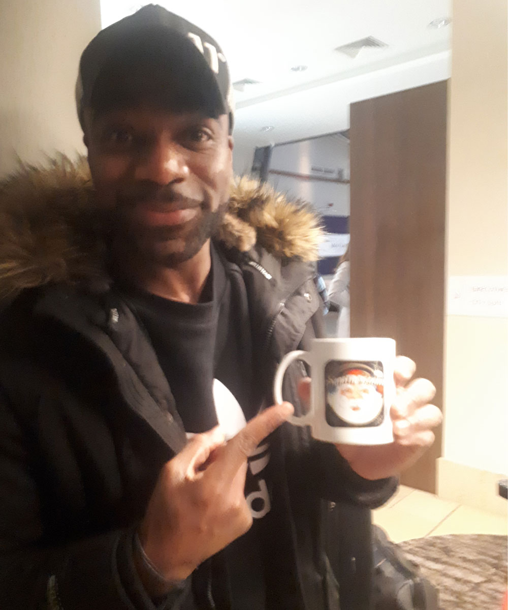 Ore Oduba British television presenter - Santa Radio Celebrity Mugshots