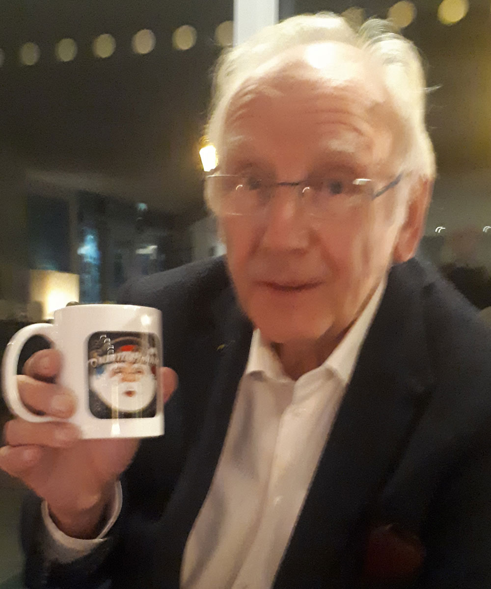 Pete Waterman Record Producer & Songwriter - Santa Radio Celebrity Mugshots