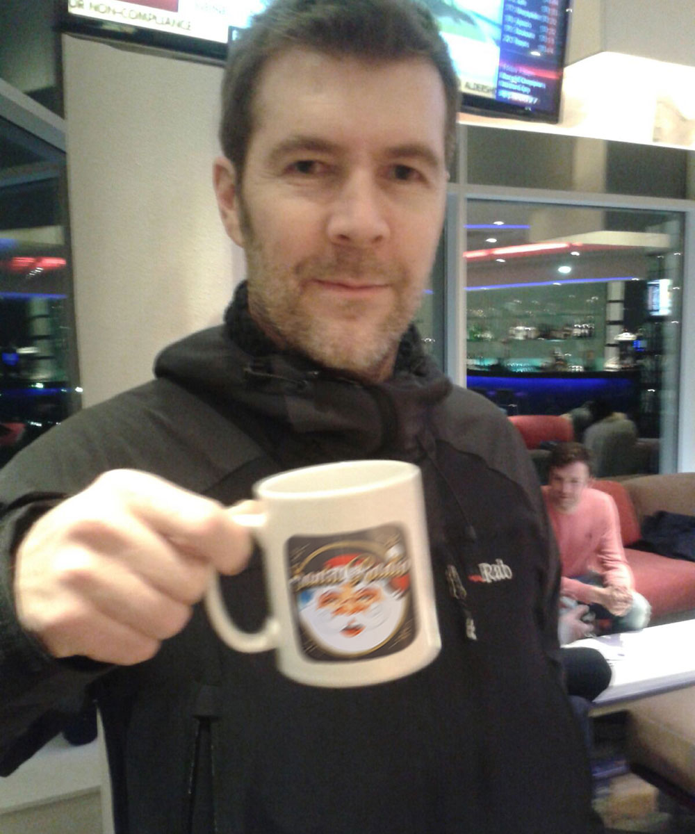 Rhod Gilbert Comedian, Actor & Radio Presenter - Santa Radio Celebrity Mugshots
