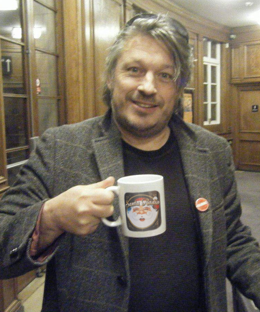 Richard Herring Comedian - Santa Radio Celebrity Mugshots