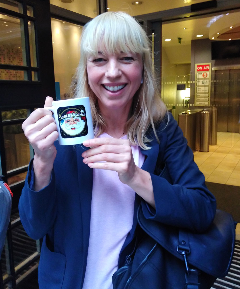 Sara Cox Radio Presenter - Santa Radio Celebrity Mugshots