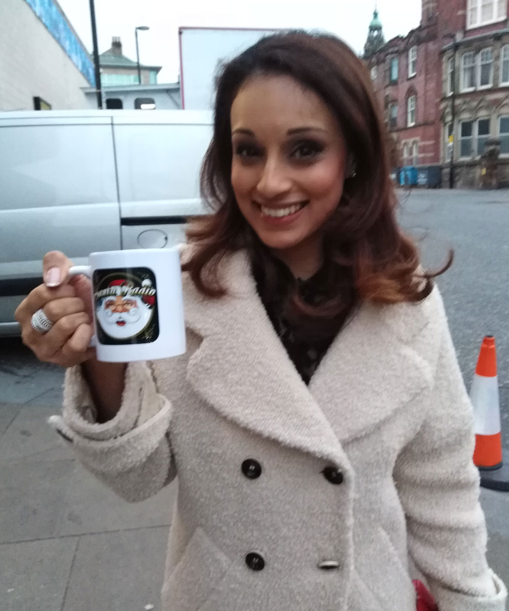 Seema Jaswal - British television presenter - Santa Radio Mugshot