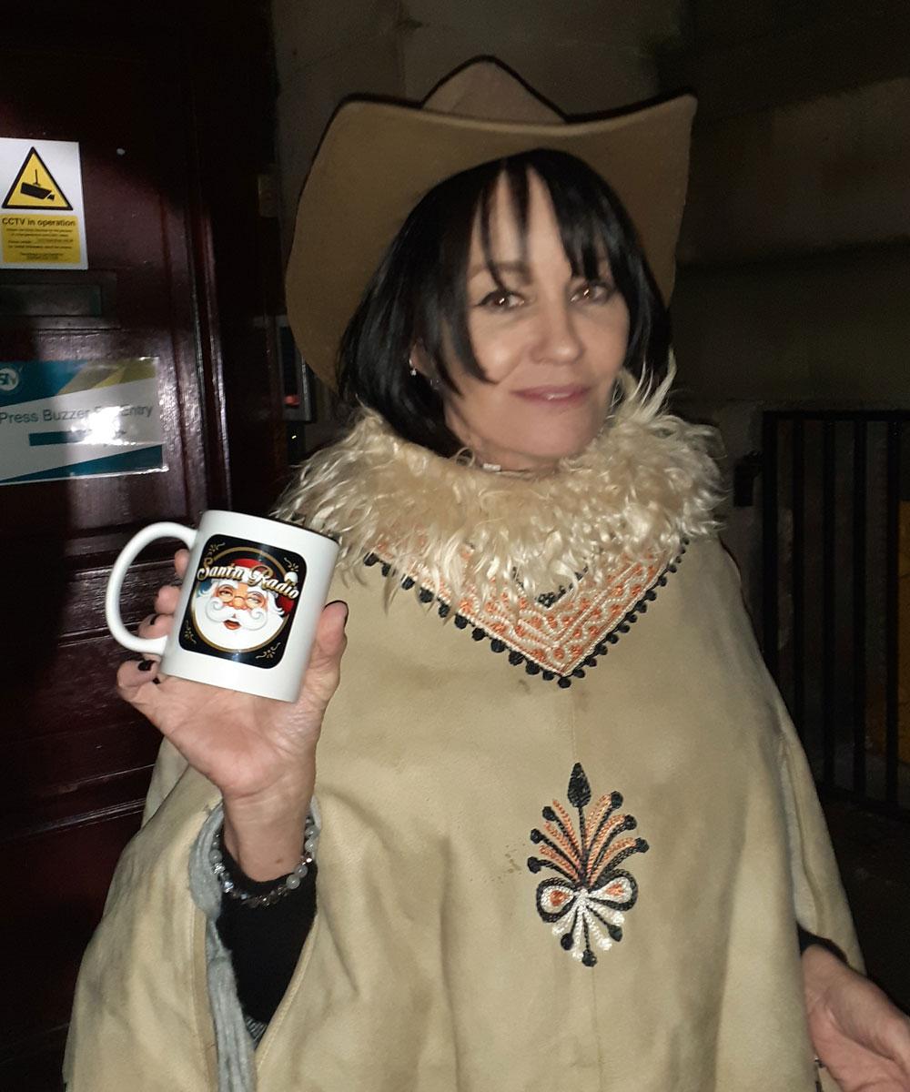 Siobhan Fahey - Singer - Santa Radio Mugshot