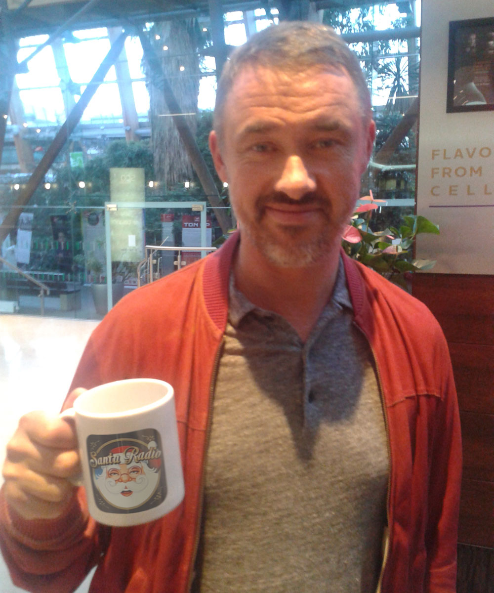 Stephen Hendry Snooker player - Santa Radio Celebrity Mugshots