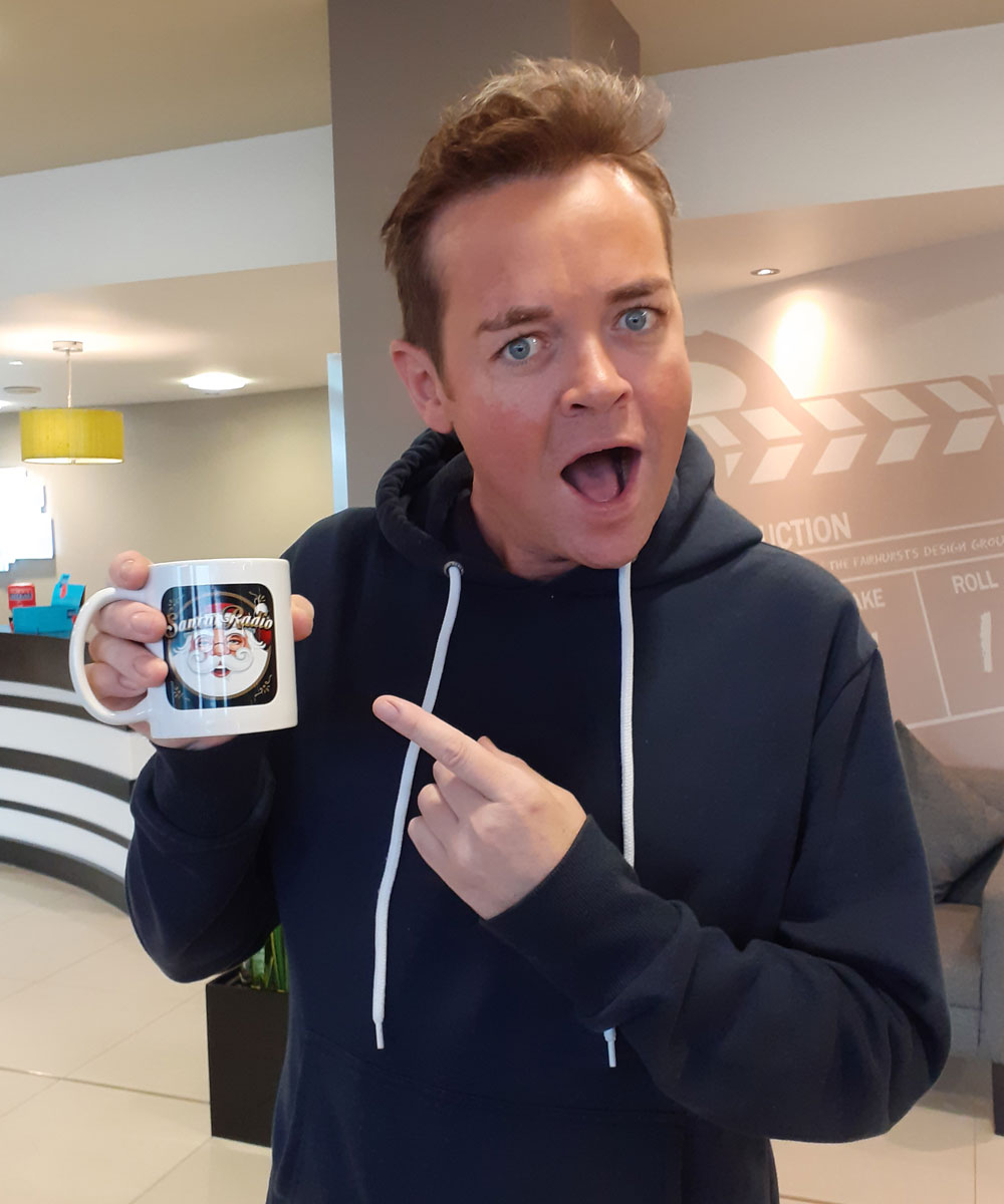 Stephen Mulhern Television presenter - Santa Radio Celebrity Mugshots