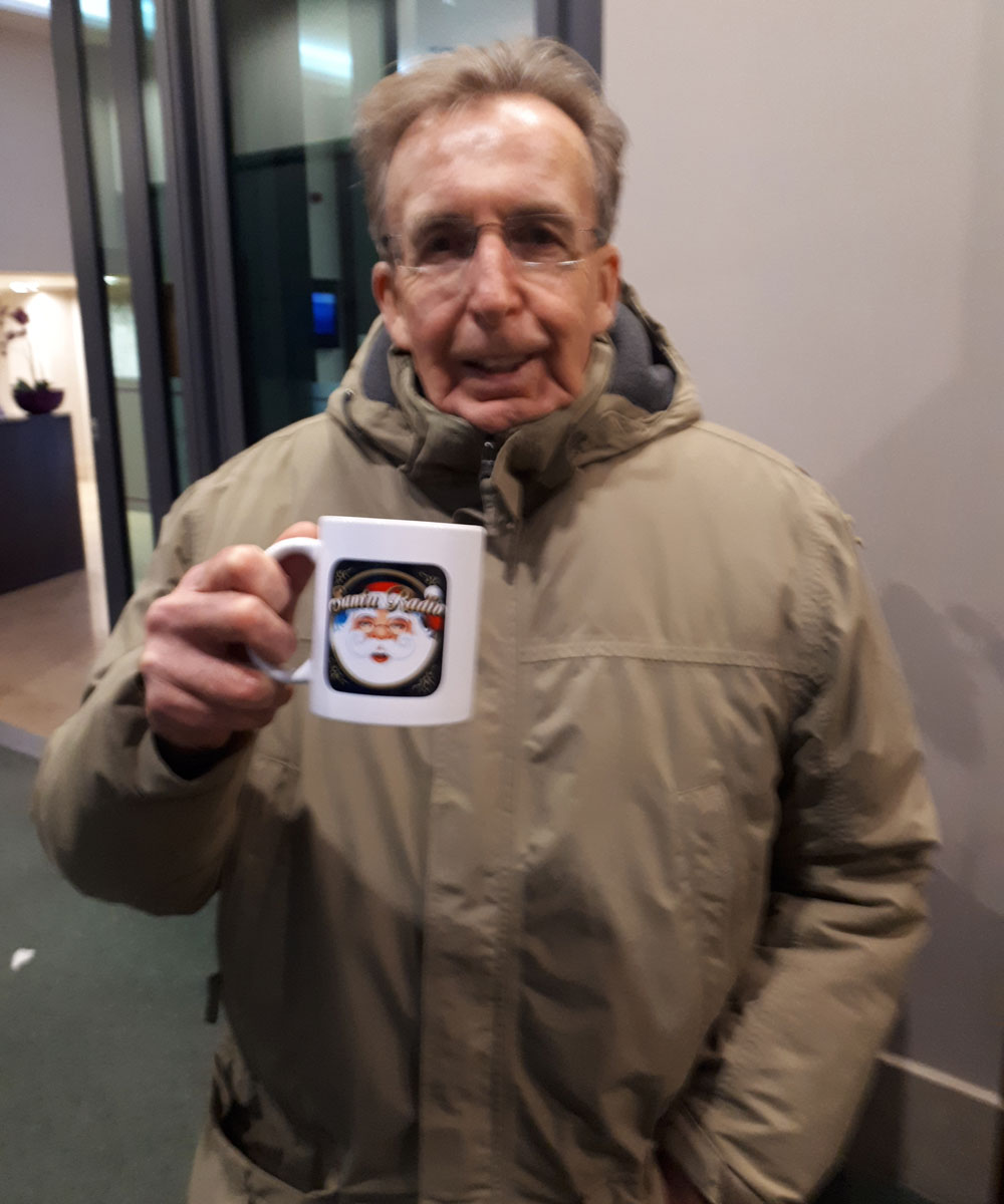 Terry Griffiths Snooker player - Santa Radio Celebrity Mugshots