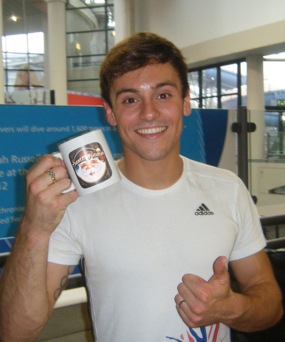 Tom Daley - Diver - Santa Radio Mugshot