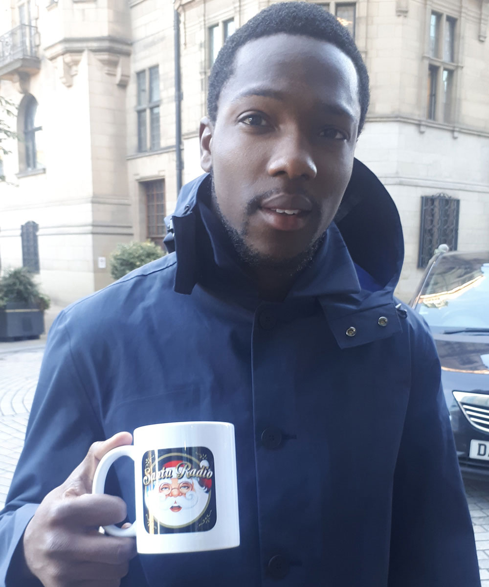 Tosin Cole - Actor in Dr Who - Santa Radio Mugshot