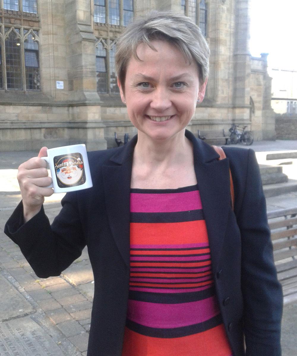 Yvette Cooper - Member of Parliament  - Santa Radio Mugshot